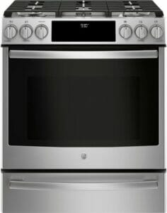 3) GE Profile PGS930SELSS 30 Slide In Gas Range: