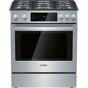 4) Bosch HGI8056UC 800 Series 30 Slide In Gas Range: