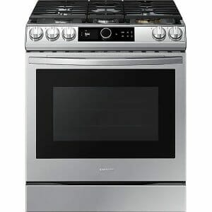 2) Samsung NX60T8711SS Gas oven with Air Fry: