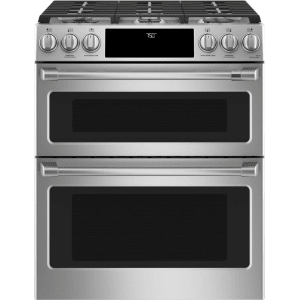 5) Cafe CGS750P2MS1 30 Slide-In Double Oven Range: