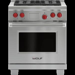 6) Wolf DF304 30 Dual Fuel Range: