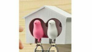 Birdhouse key holder