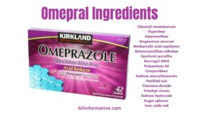 Omepral Ingredients