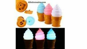 Ice cream cone lamp