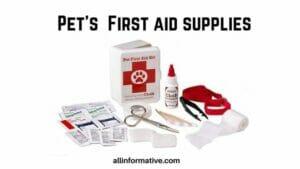 Pet First aid supplies