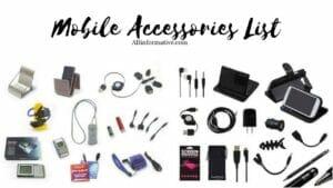 Mobile Accessories List