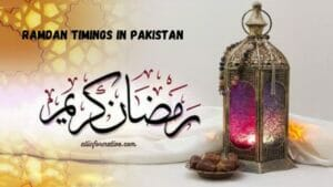Sehri time in Pakistan