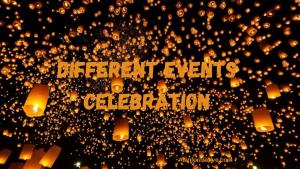 Different Events Celebration